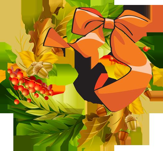 Autumn Wreath and Baskets Clip Art - ClipArt Best ...