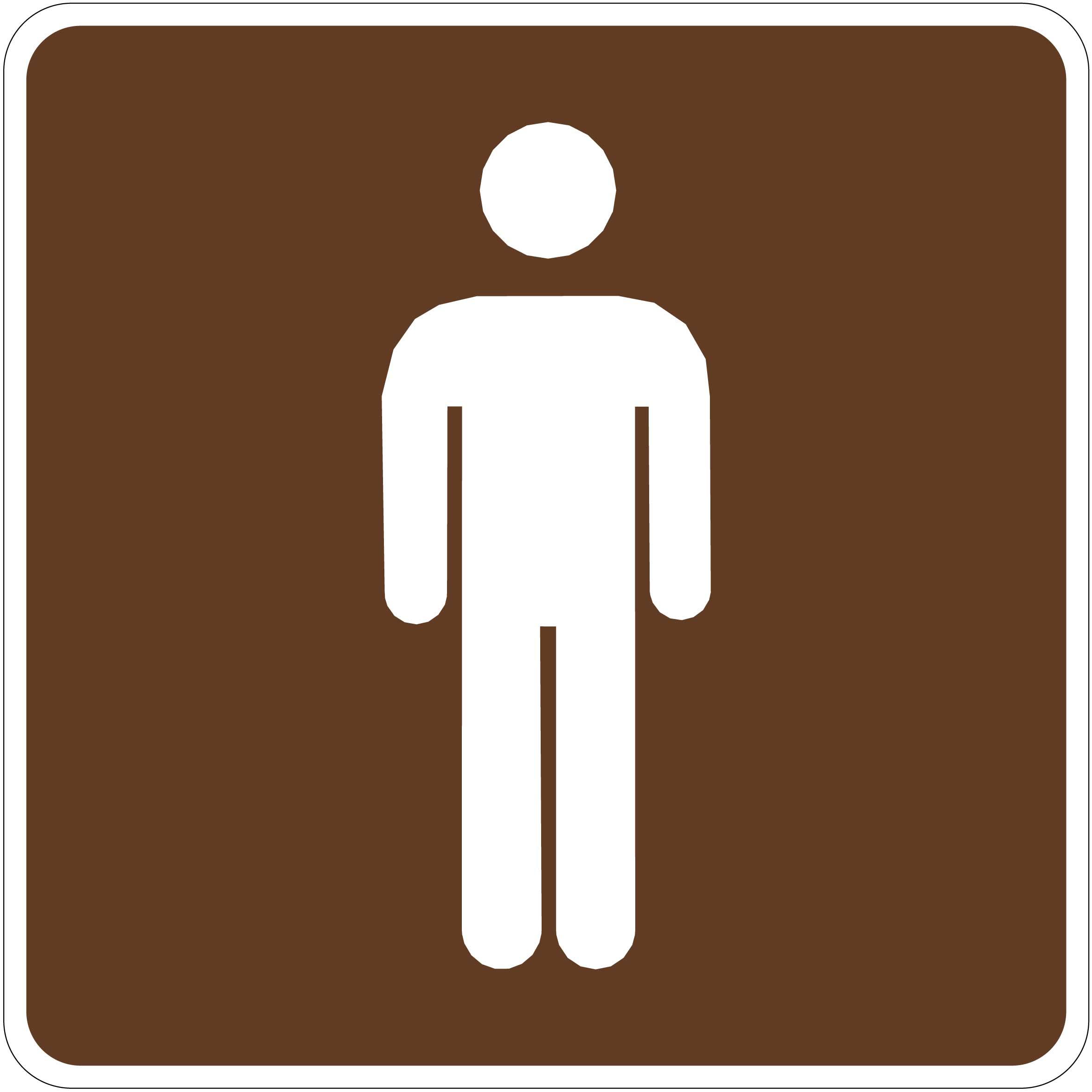 Larger Photo   Outdoor Recreation Signs   Men  39 s Restroom Symbol. Men Bathroom Symbol   ClipArt Best