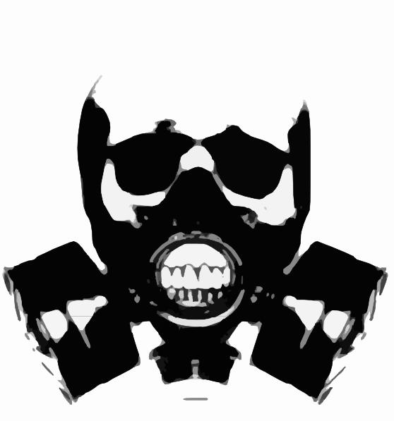 Skull Gas Mask Bones Clip Art Vector Clip Art Online Royalty