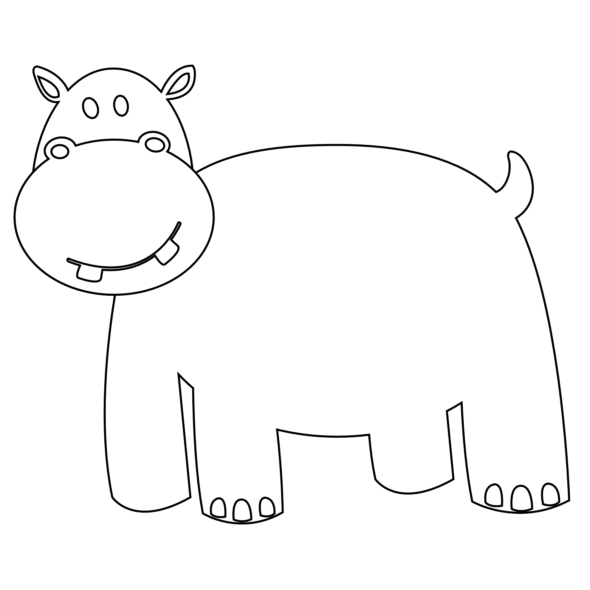 Line Drawings Of Animals Free Download : Line drawing of animals clipart best