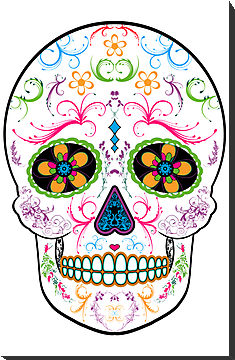 Day Of The Dead Sugar Skull Bright Multi Color Mounted Prints ClipArt Best
