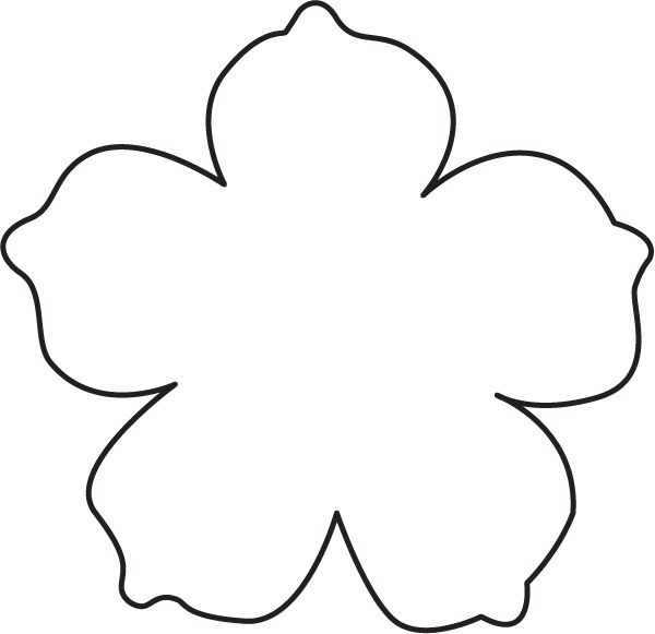 Flower Template | Templates, Paper ...