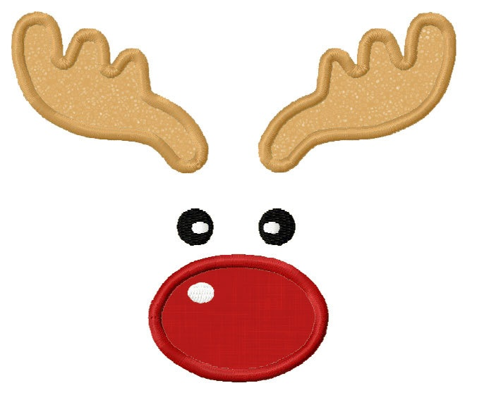 Cartoon Reindeer Face - ClipArt Best