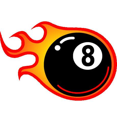 Eight Ball Fire - ClipArt Best