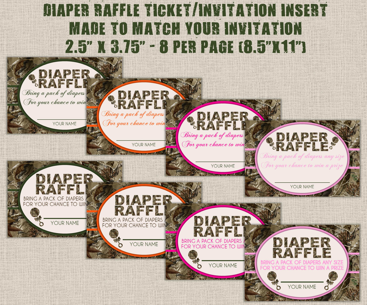 Free Printable Diaper Raffle Tickets Free diaper raffle tickets