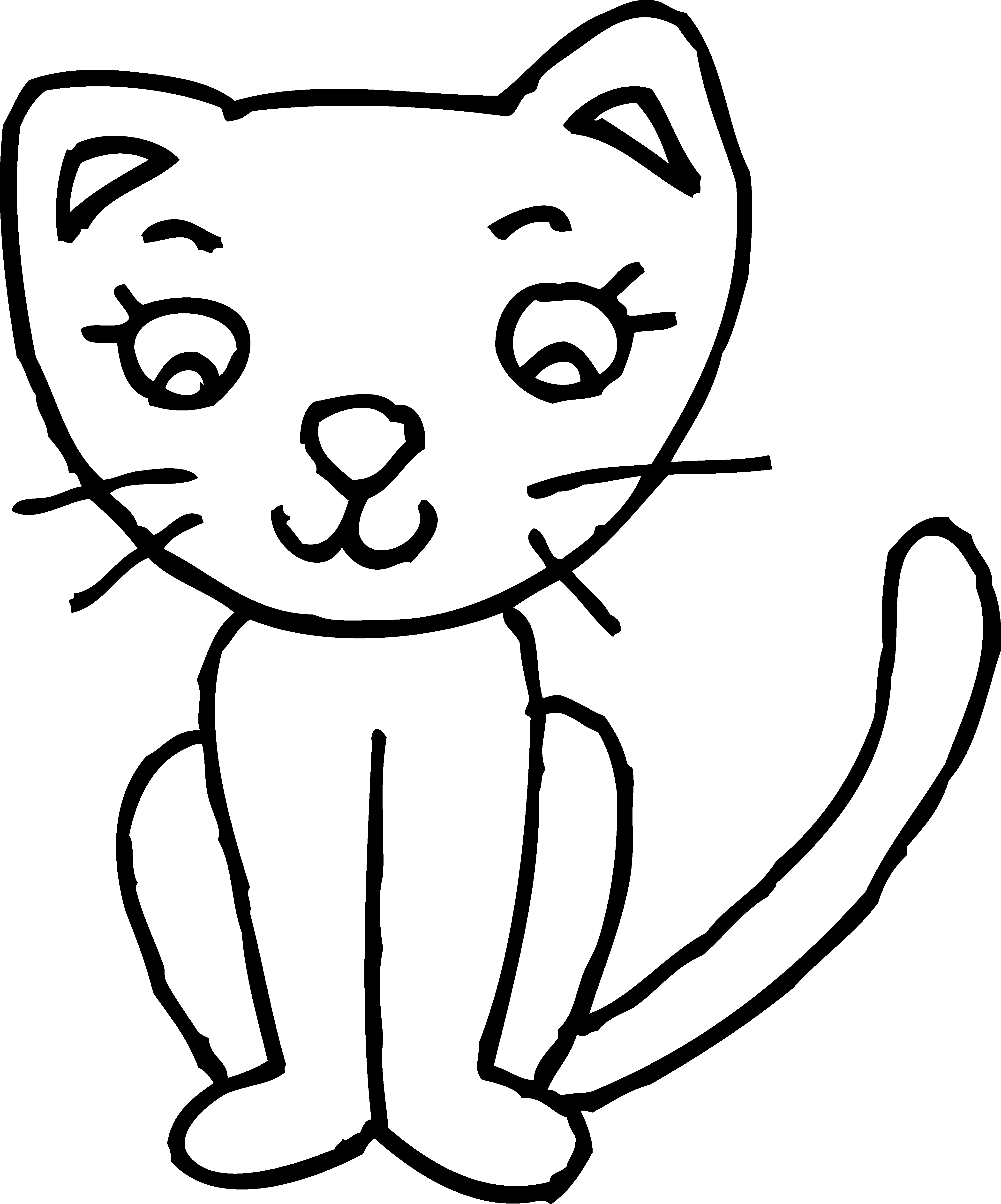 Line Drawing Of A Cat Face : Cat face line drawing clipart best