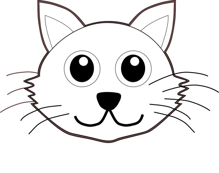 Line Drawing Animal Face : Cat face line drawing clipart best