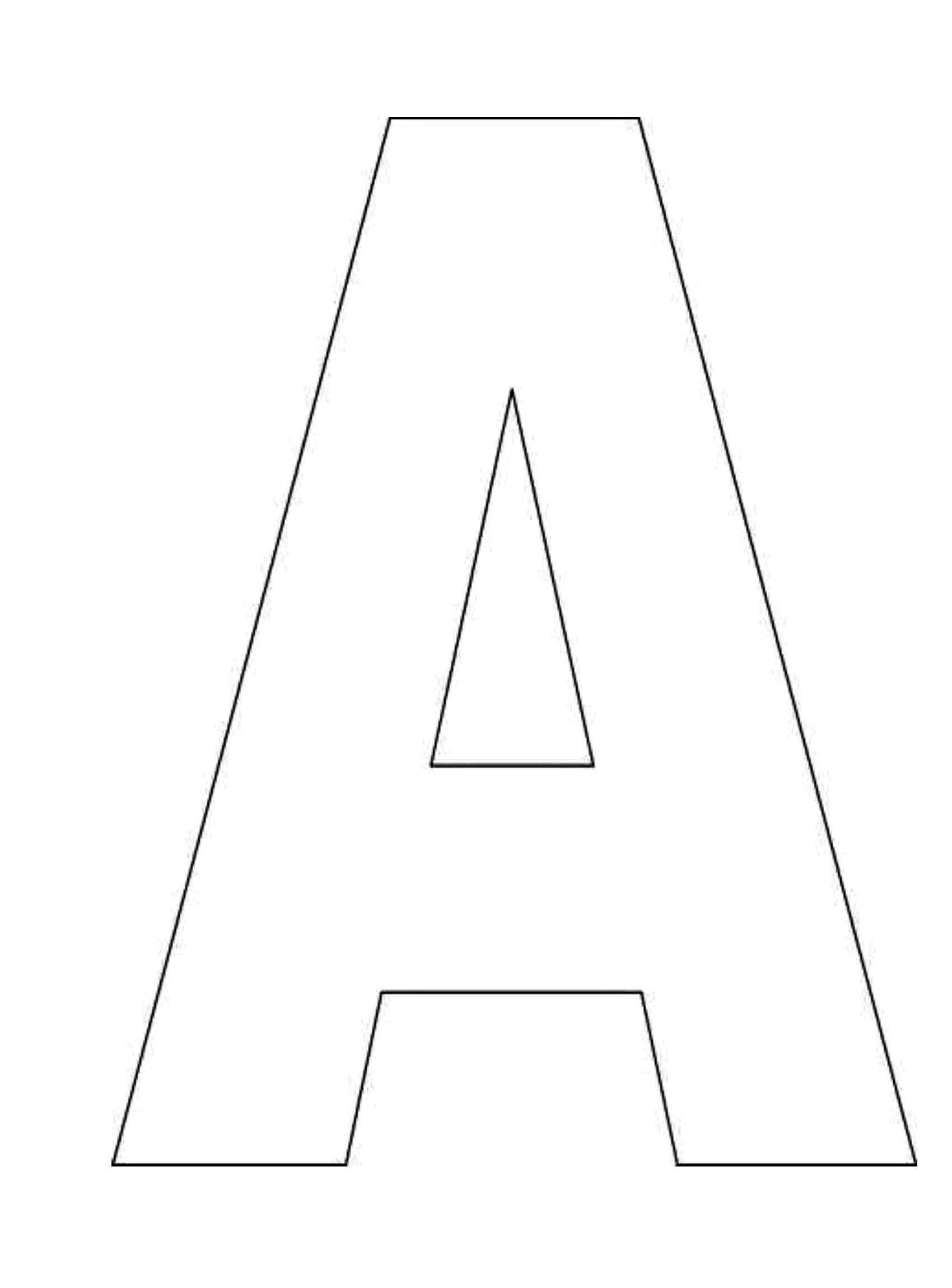 Candid image intended for letter a template printable
