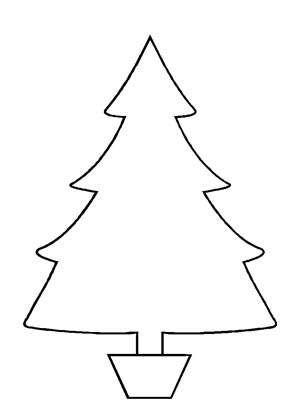 Tree Cut Out Pattern - Clipart Best