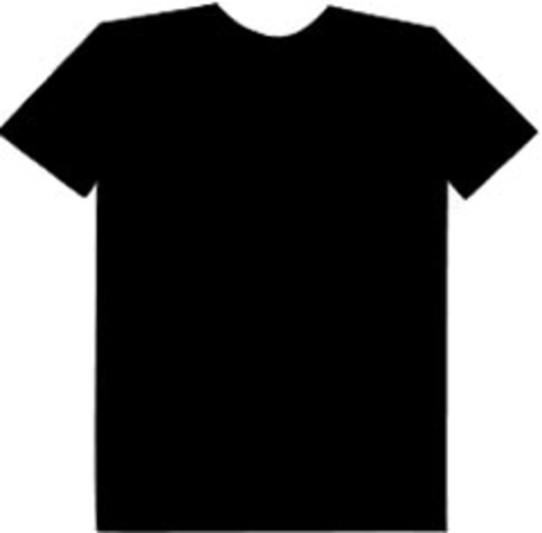 Black t shirt design Clip Art Vector Graphics 30059