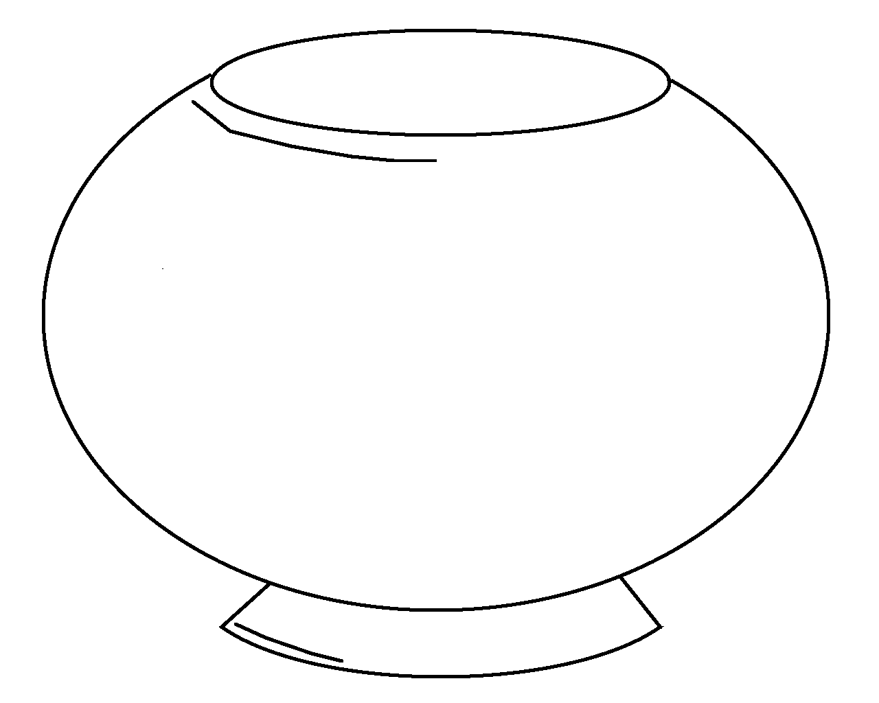 Blank fish bowl coloring page clipart best for Empty fish bowl coloring page