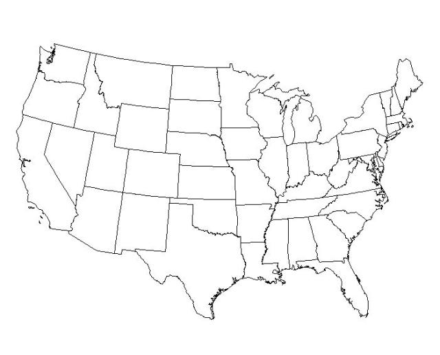 Black And White United States Map ClipArt Best – Map Usa Black and White