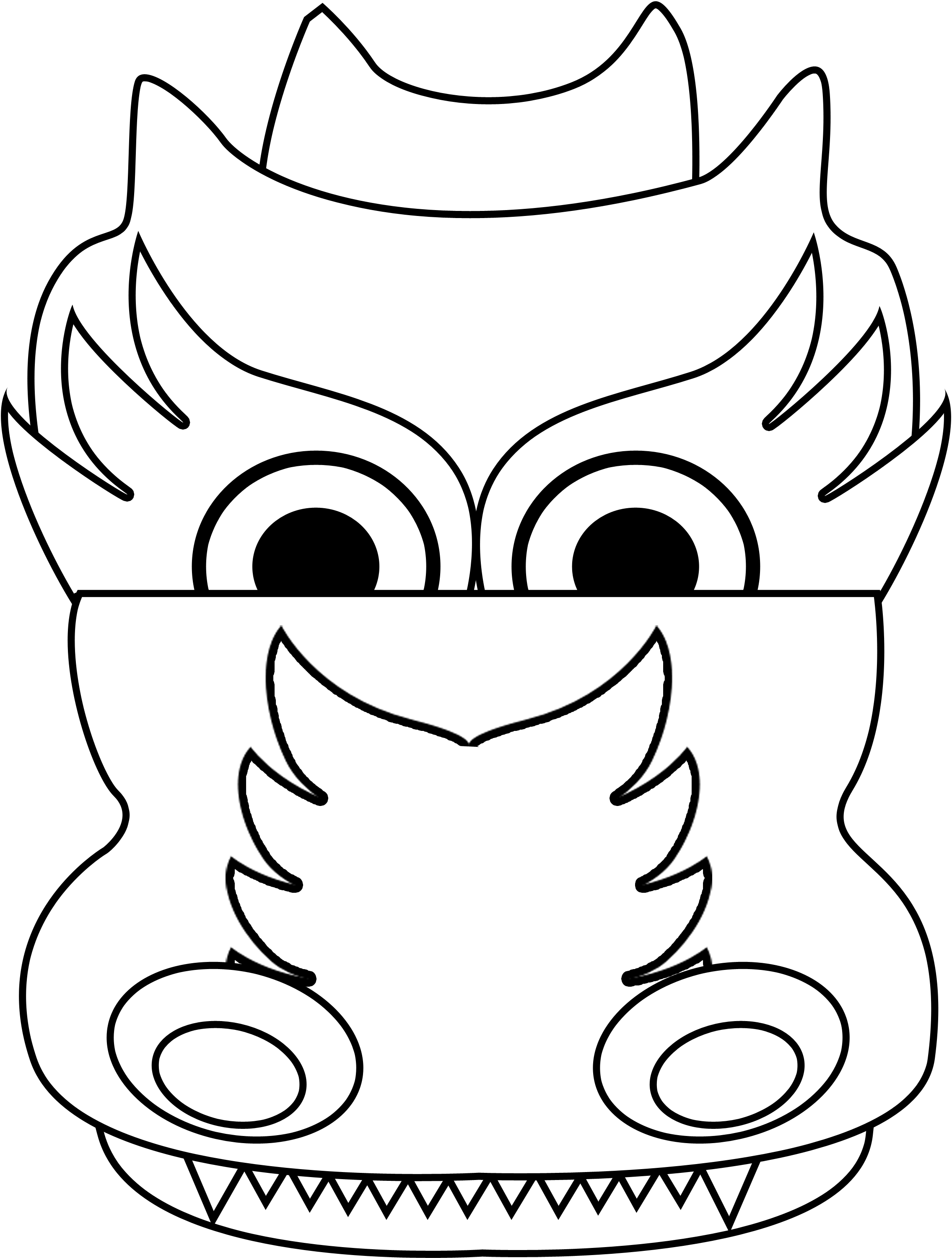 chinese dragon head coloring page clipart best
