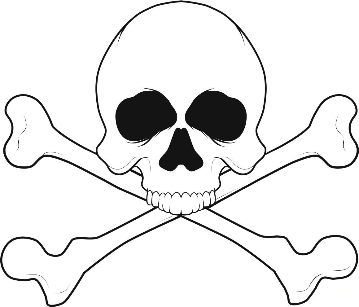 Skull And Bones Coloring Pages - ClipArt Best