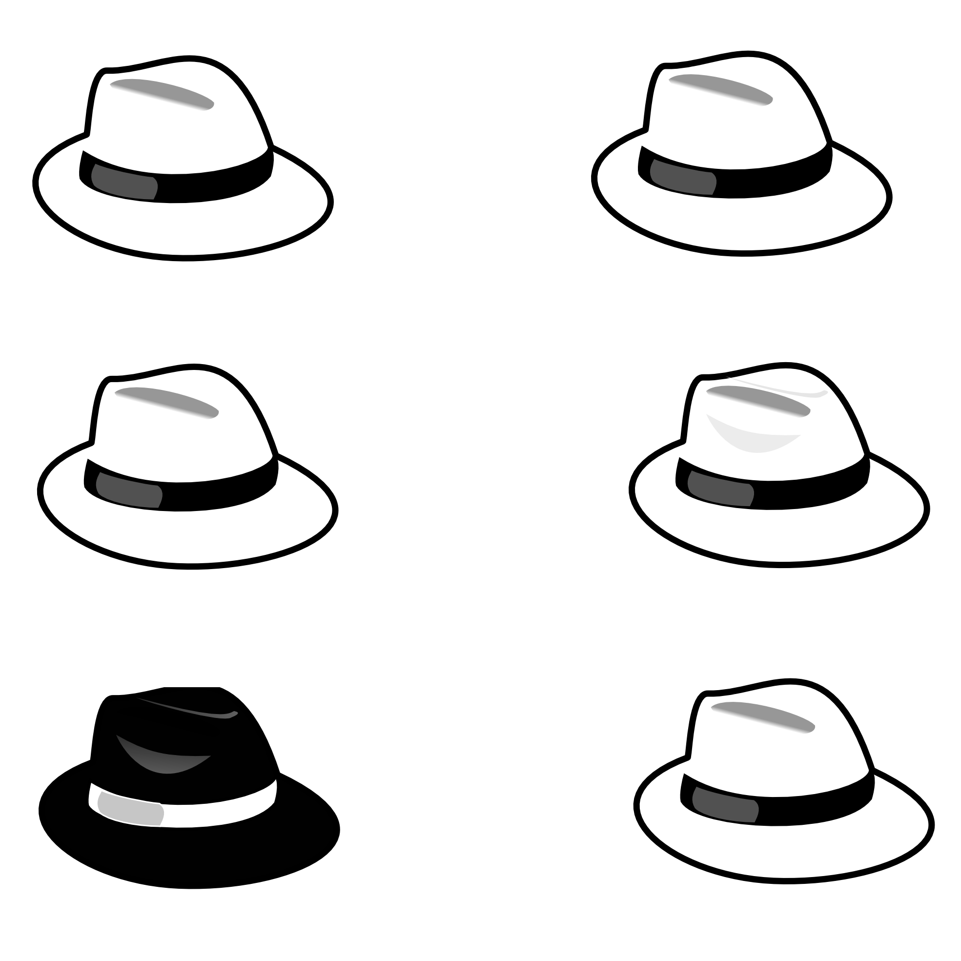 Black And White Hat Part : Pirate hat clip art black and white clipart best