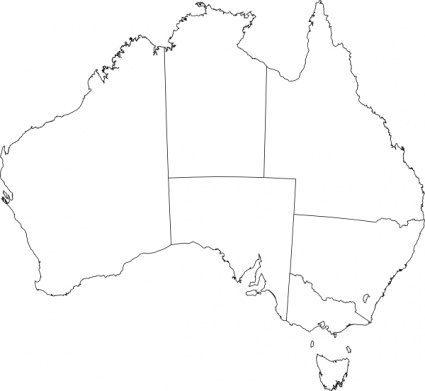 Australia Blank Map ClipArt Best
