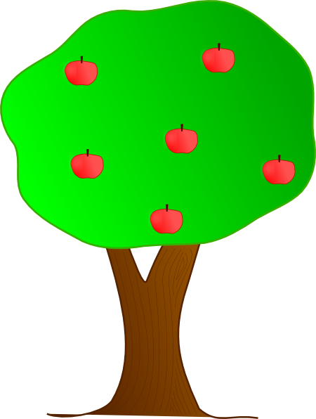 Apple Tree clip art - vector clip art online, royalty free ...