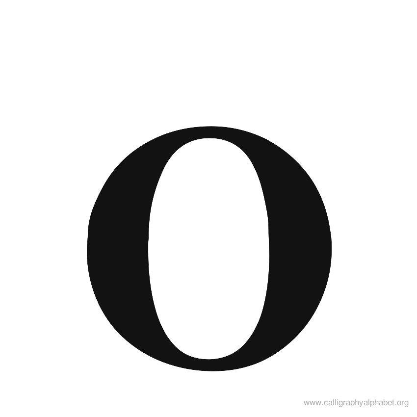 Letters Alfabet O Clipart Best