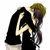 anime couple hugging wallpapers - photo #31