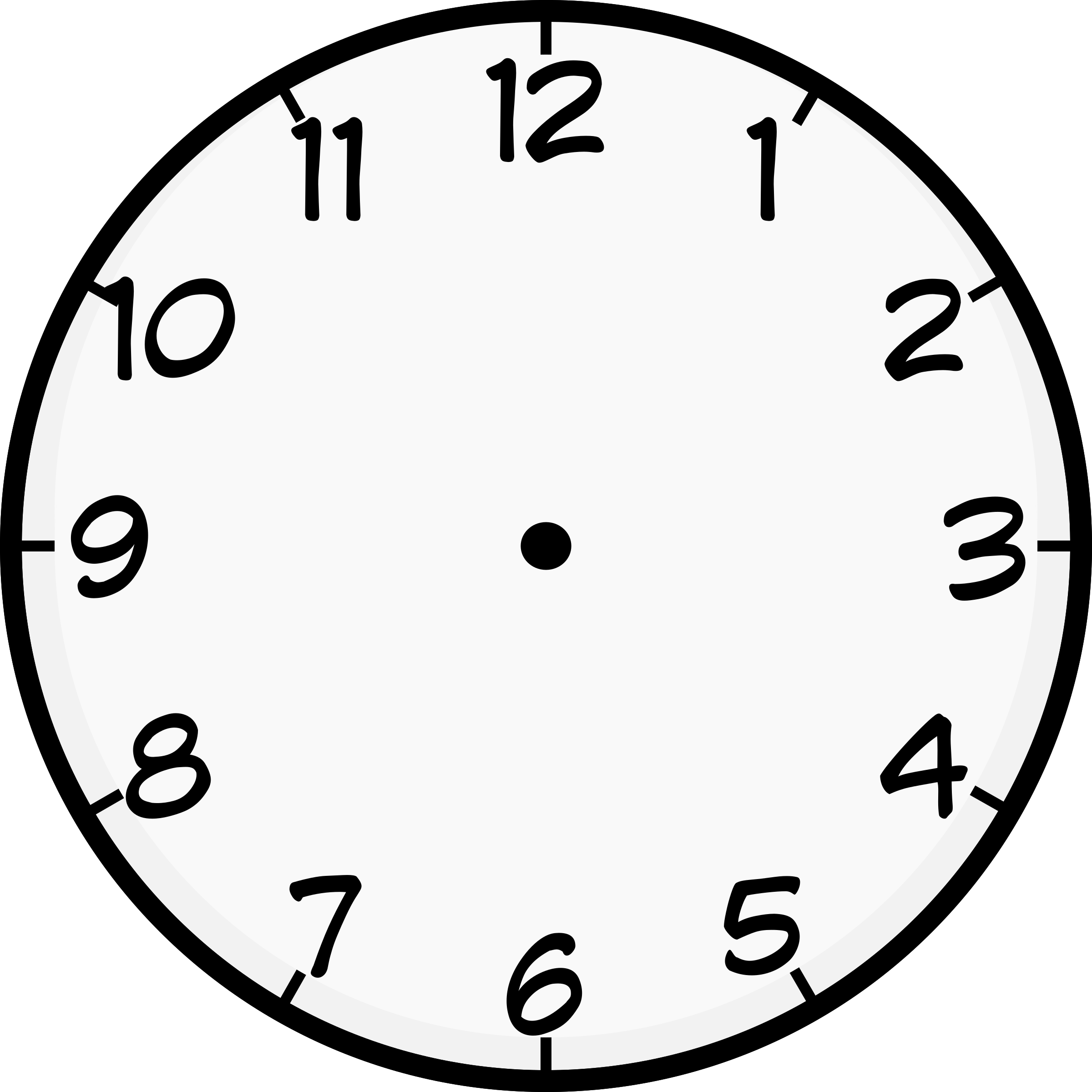 worksheet Clock Face showing post cartoon png 2400x2400 clock face