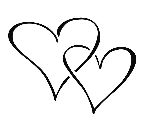 Hearts Silhouette - ClipArt Best