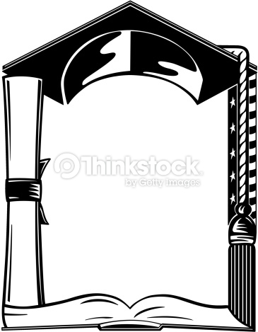 Graduation Border Black And White - ClipArt Best