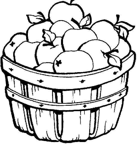 White Basket Clipart : Apple basket clip art clipart best