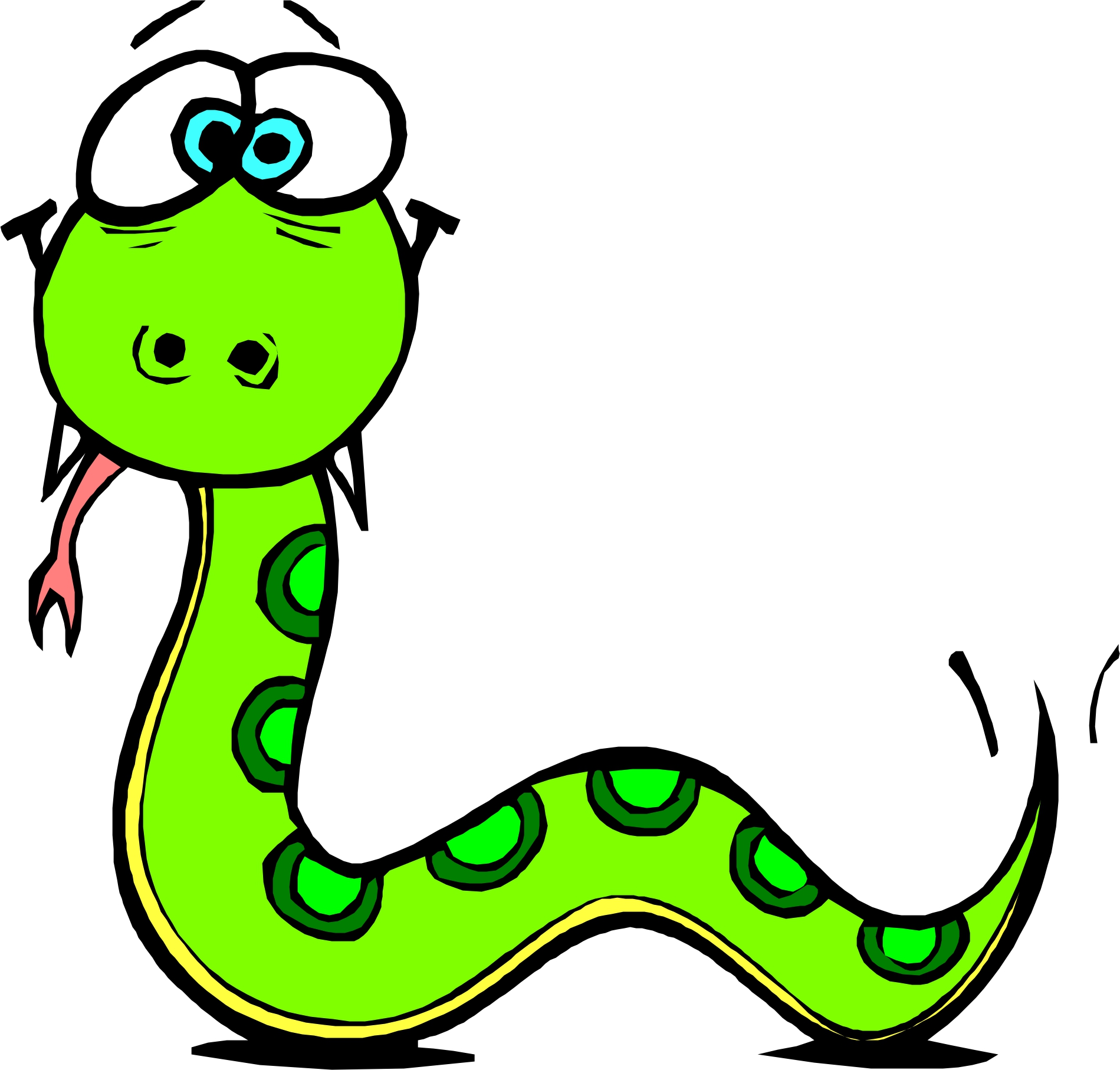 11 long snake cartoon free cliparts that you can download to you ...