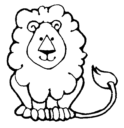 Black And White Lion Print - ClipArt Best