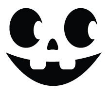 Happy Pumpkin Face Template Clipart Best