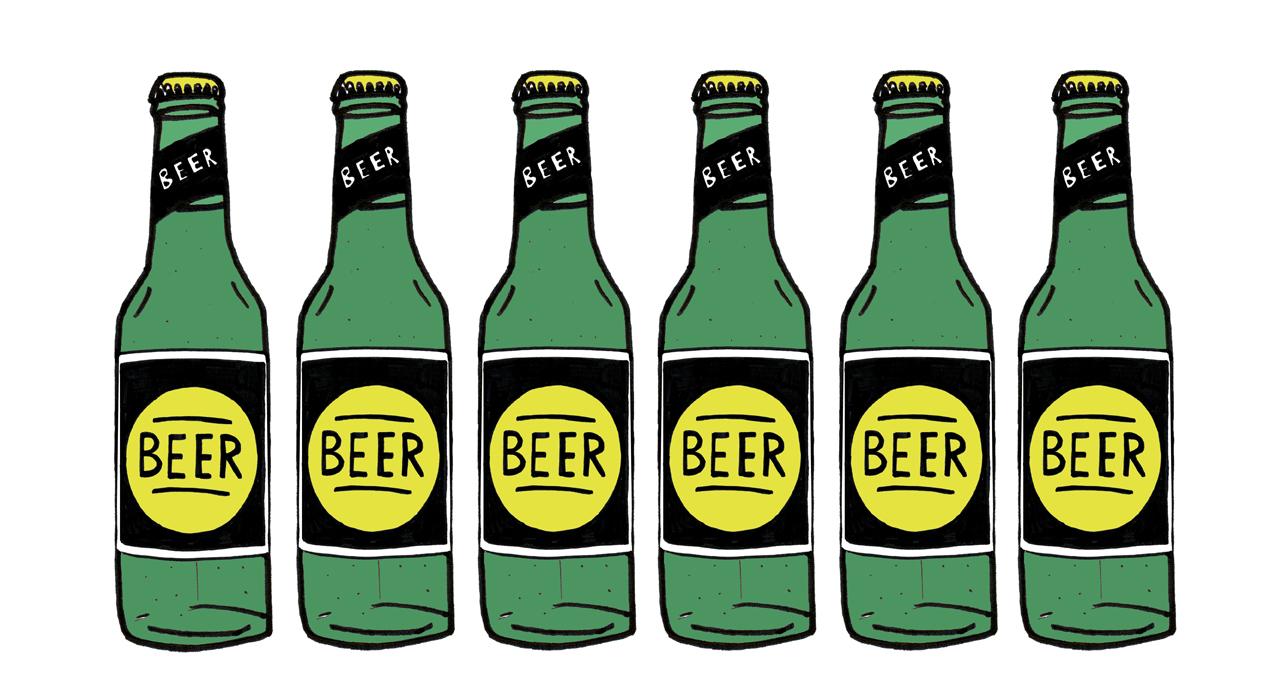 Beer Bottles Drawing Beer And Cider Bottle