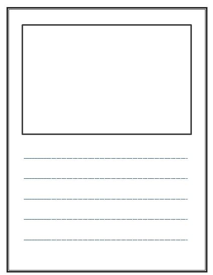 Lined paper writing border – Lined Writing Paper