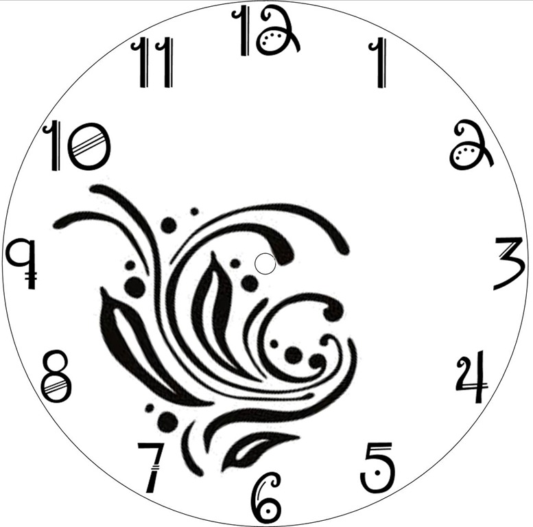 Wall Clock Design Template : Craft downloadable clock face clipart best