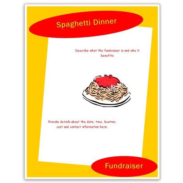 Spaghetti Dinner Fundraiser Flyer Template Clipart Best