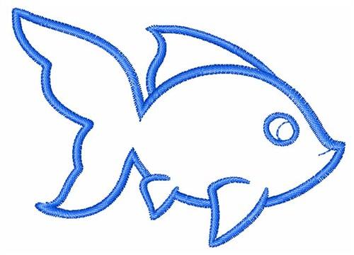 goldfish outline clipart