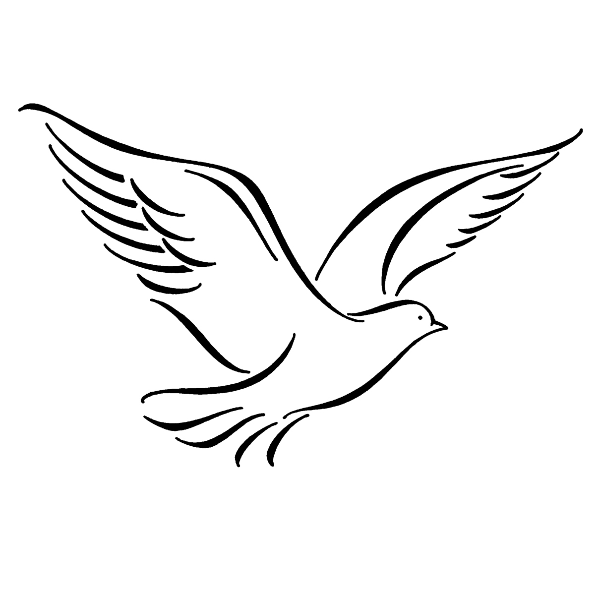 Line Art Dove : Dove line drawing clipart best