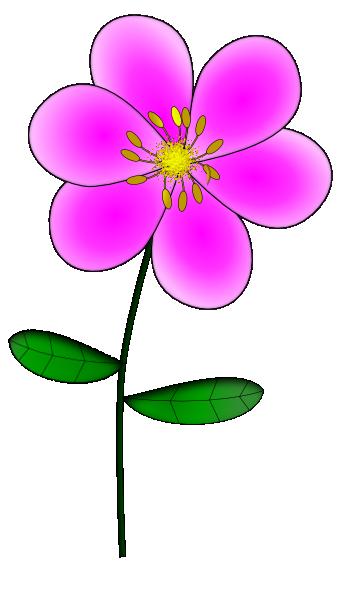 Purple Flower 8 clip art - vector clip art online, royalty ...