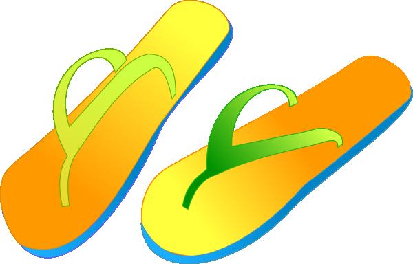 Flip Flops clip art - vector clip art online, royalty free ...