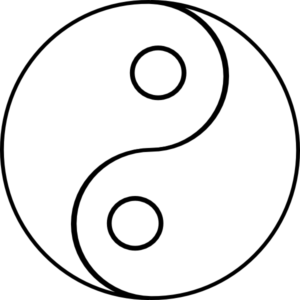 Coloring Pages Yin Yang : Ying yang colouring pages clipart best