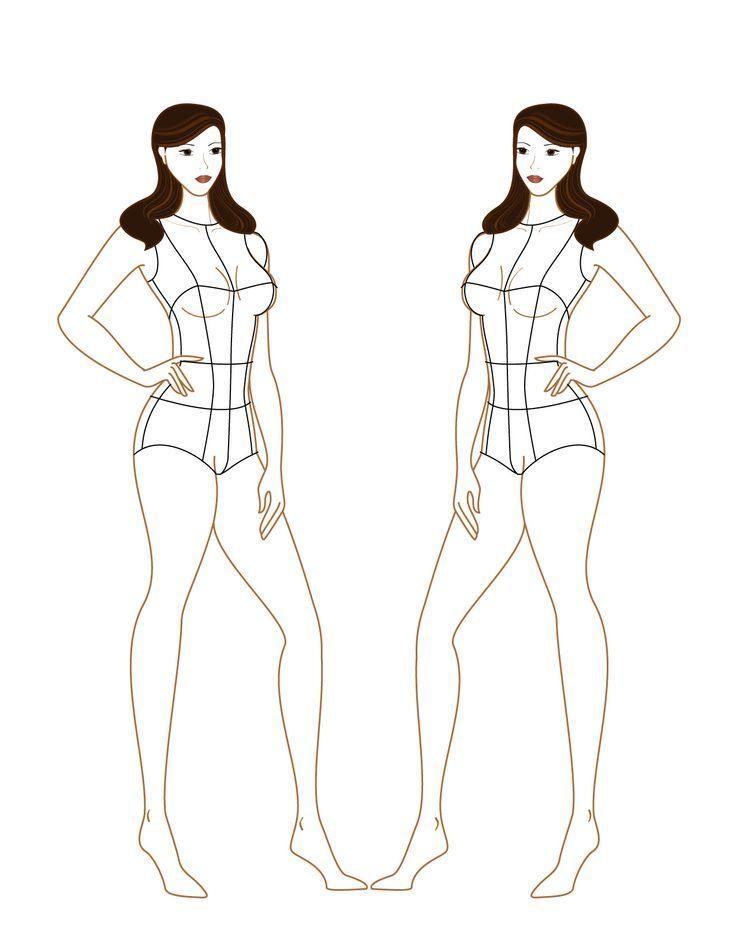 Эскиз Девушки В Полный Рост Для Одежды