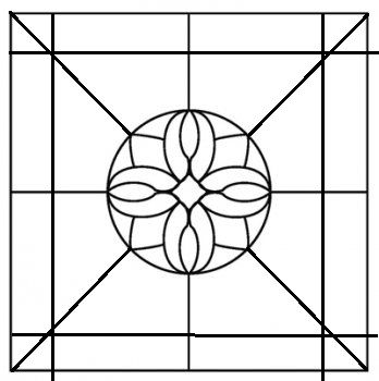 Templates stained glass flowers clipart best for Window design template