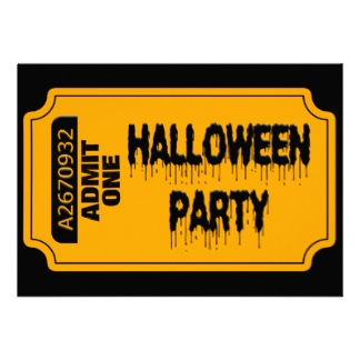 Halloween Ticket Invites, 16 Halloween Ticket Invitation Templates