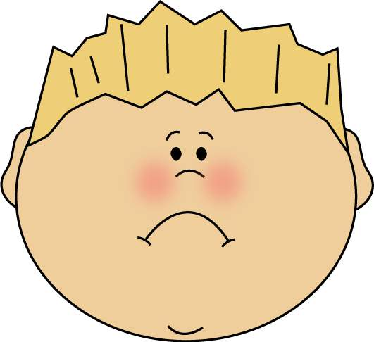 Boy Face Sad - ClipArt Best
