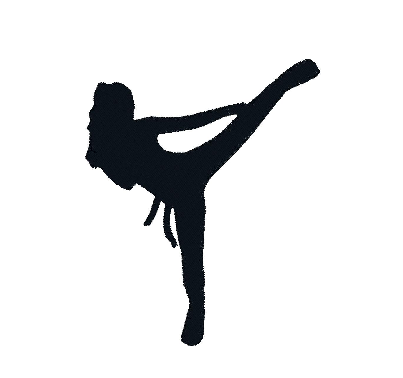 Martial arts clip art girl