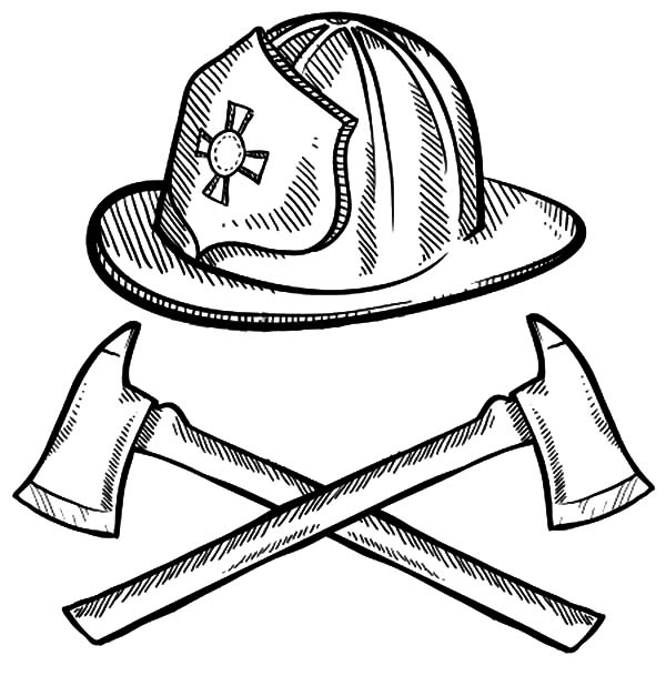 fire helmet coloring page the image kid has it. Black Bedroom Furniture Sets. Home Design Ideas
