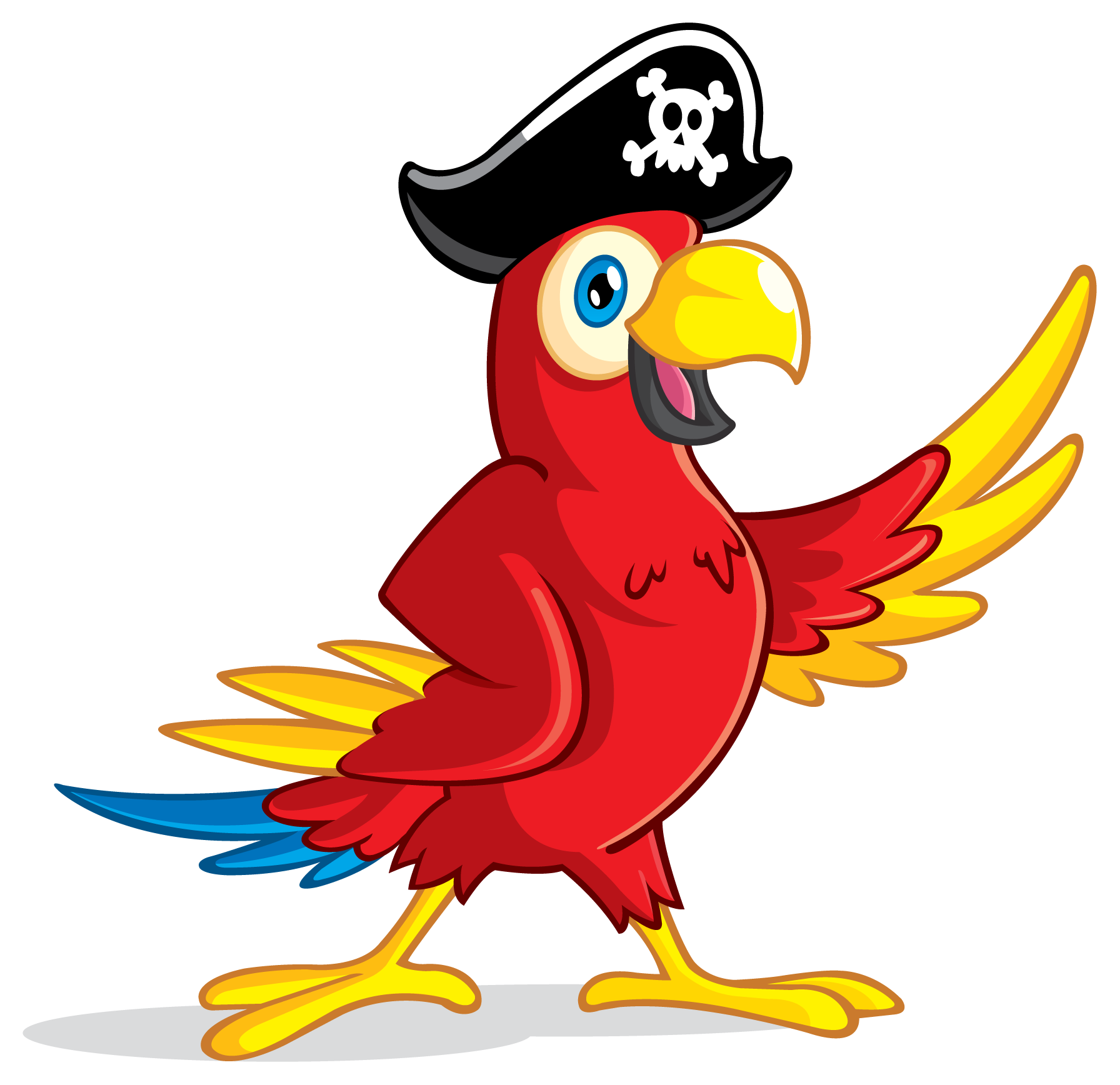 Pirate Parrot - ClipArt Best