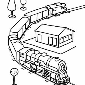 caboose train coloring page color luna