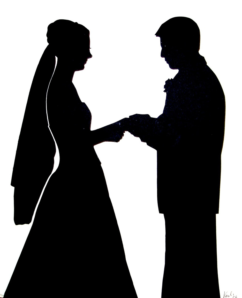 free wedding silhouette clip art - photo #17