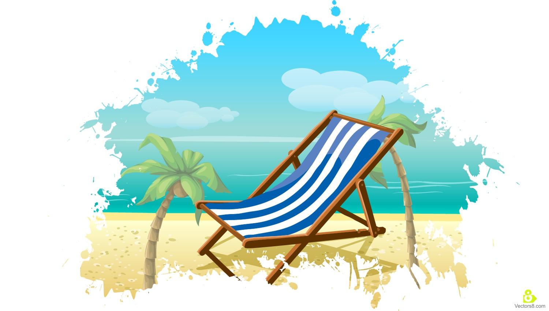 palm tree beach vector clipart best