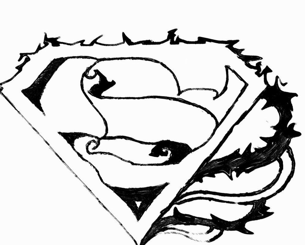 Free Coloring Pages Of Superman Logo A Alphabet